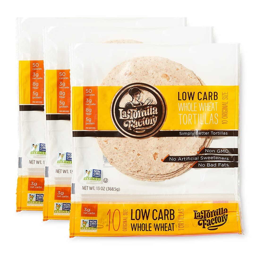 La Tortilla Factory Low Carb Max 62% OFF Whole Max 67% OFF Net Wheat Carbs 3g Tortillas