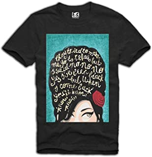 8a3b3bca47f Lo166Ve Men's T-Shirt Amy Winehouse Icon Tattoo Club 27 Wasted