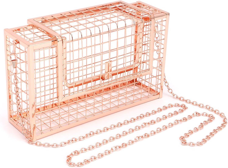 Dabixx Metall Hohl Hohl Hohl Frauen Abendtasche Schulter Crossbody Taschen Clutch Cage Handtasche Rosa Gold B07G37JSY6  Neuankömmling f7cfb8
