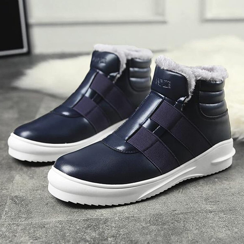 Men's shoes Feifei Winter High Help Waterproof Keep Warm Cotton shoes 3 colors (color   bluee, Size   EU39 UK6.5 CN40)