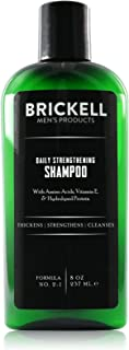 Brickell Men's Daily Strengthening Shampoo for Men, Natural and Organic Featuring Mint and Tea Tree Oil To Soothe Dry and Itchy Scalp, Sulfate Free and Paraben Free, 8 Ounce, Scented