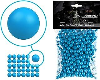 Wearable4U .68 Caliber Rubber Balls New Reusable Training Soft Rubber Balls for Paintball Guns