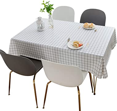 Waterproof PVC Table Cloth for Outdoor and Indoor Use,Spillproof Stain Resistant Wipeable Vinyl Table Cloth, Restaurant and P