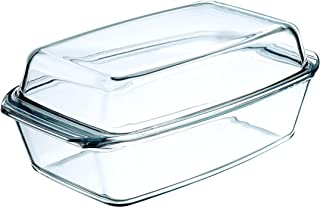 Simax Large Glass Casserole Dish: Oven Safe Cookware With Lid - Oblong Covered Glass Dish For Baking, Serving, Cooking, et...