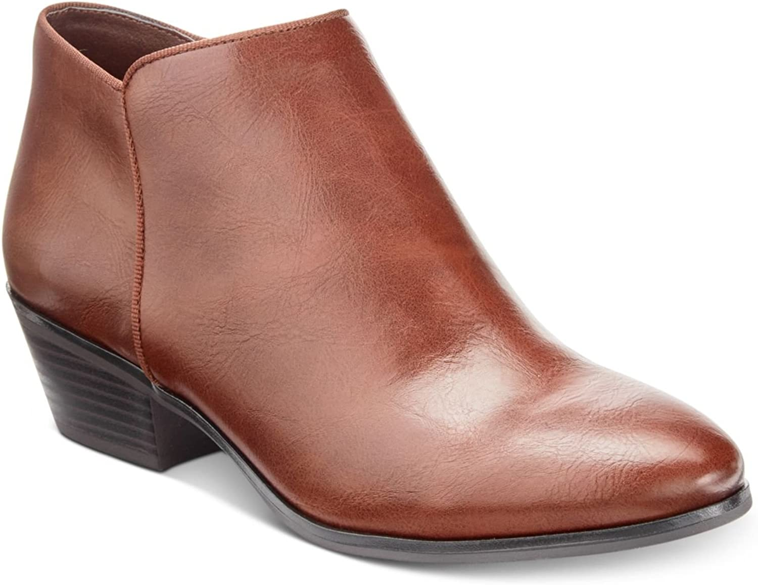 Style & Co. Womens Wileyyf Faux Suede Ankle Booties