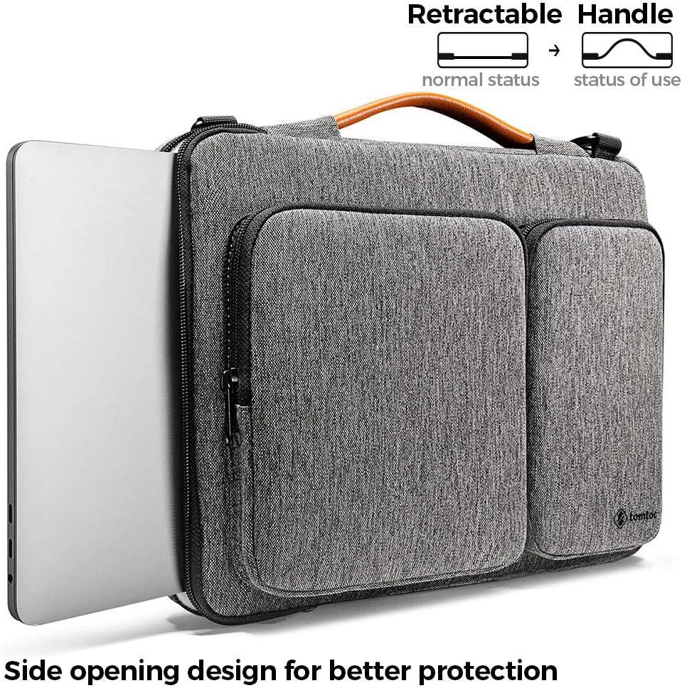 12,9 iPad PRO 13 MacBook PRO Retina A1502 A1425 Blu Scuro tomtoc 13-13.5 Pollici Custodia Borsa a Tracolla per 13.3 Old MacBook Air A1466 A1369 13.5 Surface Laptop