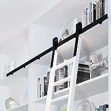 6FT-16FT Rolling Rustic Black Steel Sliding Library Office Ladder Hardware Track Set Kit (No ladder) (10FT)