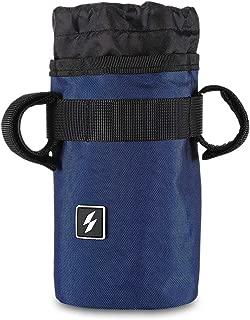 Candora Bike Handlebar Stem Bag Food Snack Storage, Water Bottle Holder Bikepacking, Bicycle Touring, Commuting