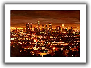 ArtWall Martina and Markus Bleichner 'City of Angels' Unwrapped Flat Canvas Artwork, 28 by 40-Inch