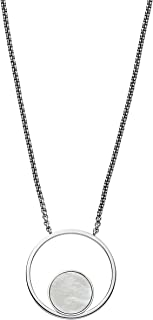 Women's Agnethe Silver-Tone Mother-of-Pearl Pendant Necklace, 0