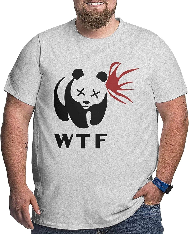 Panda Bear Wrestling Mans Simple Big Size Summer Outdoor Short Sleeve Round Collar Tee