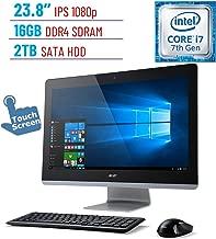 Acer Aspire AZ3 23.8'' Touch IPS (1920x1080) All-in-One Desktop PC (Intel Quad Core i7-7700T Processor 16GB 2400MHz DDR4 2TB HDD NVIDIA GeForce 940M Bluetooth Dolby Audio DVD-RW HDMI Windows 10)