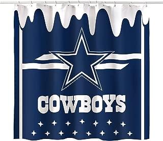 LEMOISTARS Decorative Bath Team Design Shower Curtain Waterproof Polyester Fabric 70 x 70 Inches (Dallas Cowboys)