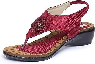 TRASE Flick Heels Wedges Sandals for Women - 1.5 Inch Heel