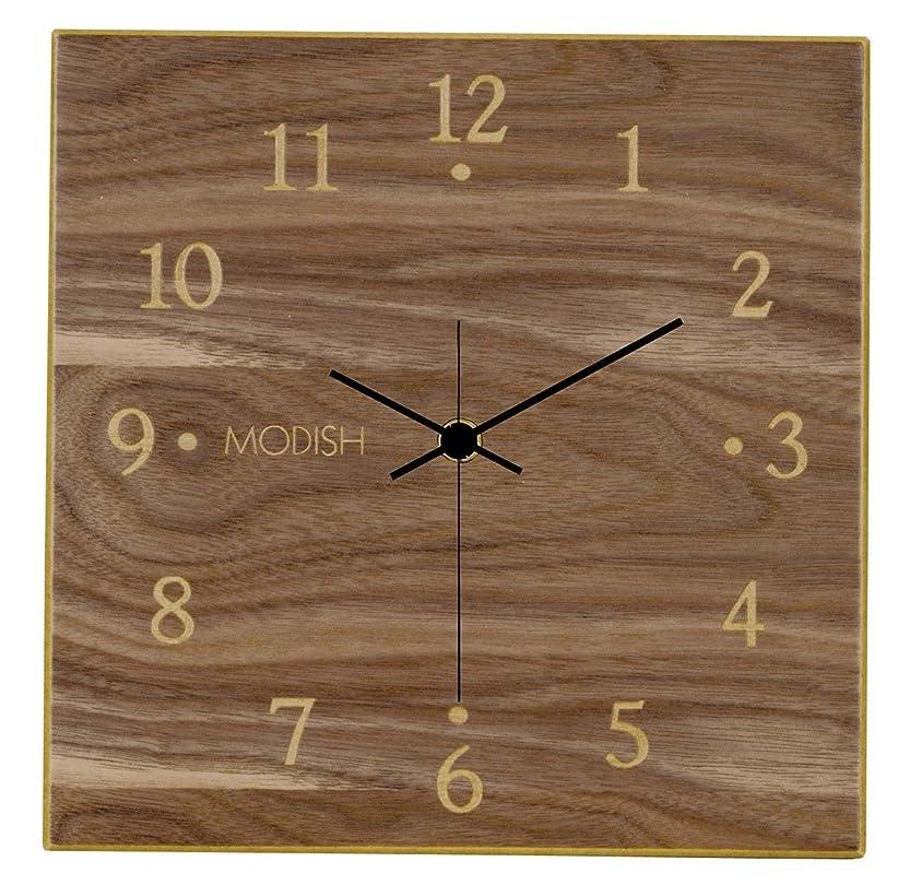 腹痛名声雑品モディッシュ 木製壁掛け時計 ウォールナット G-1163B