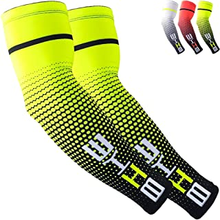 Beister 1 Pair Sun UV Protection Cooling Arm Sleeves for Women Men, Long Arm Cover for Cycling, Driving, Outdoor Sports