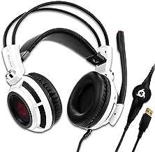 KLIM Puma – Cascos Auriculares Gaming con micrófono – Sonido Envolvente 7.1 Audio – Vibración integrada – Blanco – Ideales para Jugar en PC y PS4 [ Nueva 2020 Versión ]