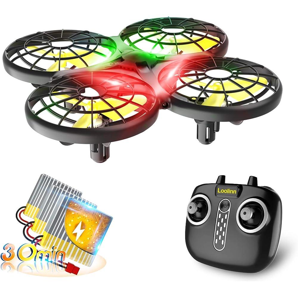 Loolinn, drone per bambini, mini drone telecomandato con tecnologia anti-collisione automatica MINI Drone X26