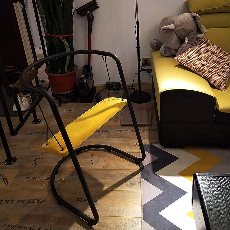 Moderner einfacher Schaukelstuhl aus Eisen für den Auenbereich, Esszimmer, Milch, Tee, Shop, Stuhl mit Holzkissen, Kombi-Tisch und Sessel, Lazy Cafe, Freizeit
