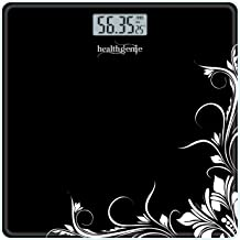 Healthgenie electronic digital weighing scale,personal weighing machine - (Black Pattern)