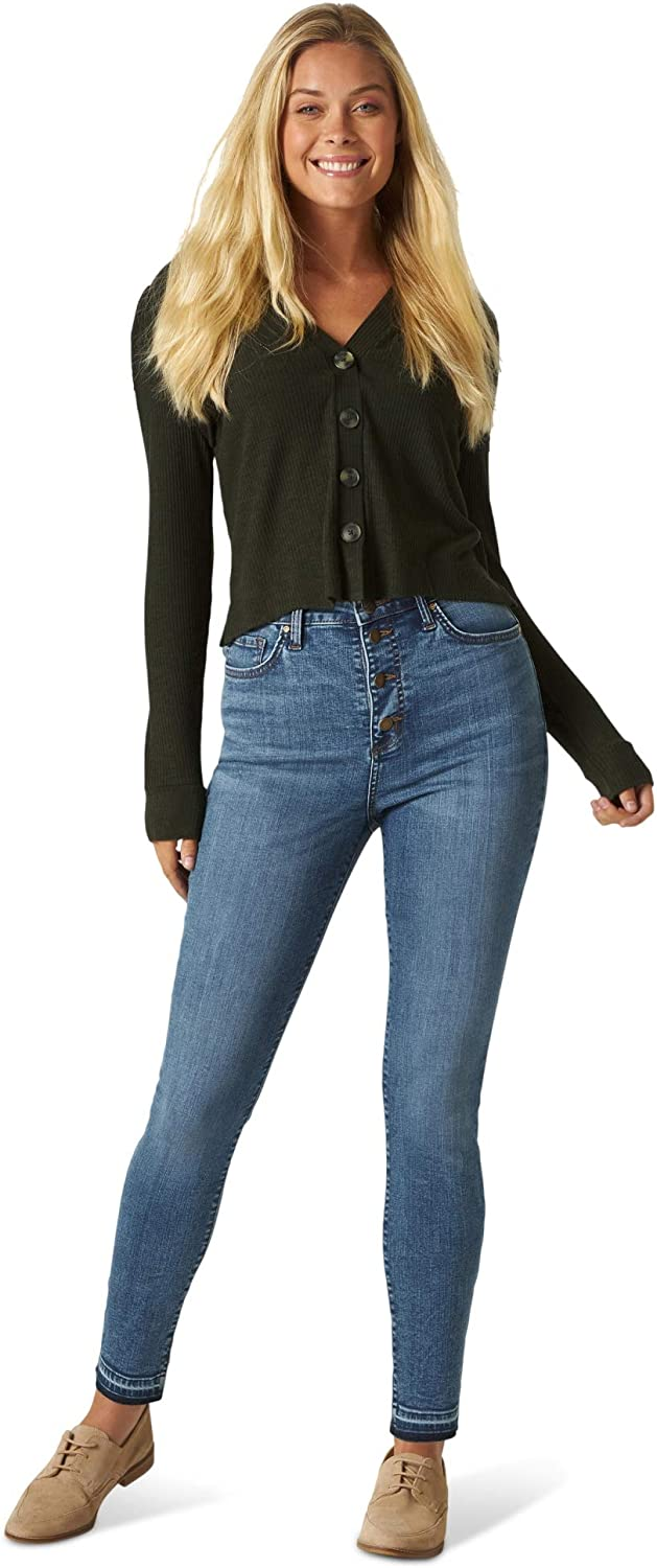 Lee Women's Slim Fit High Rise with Button Fly & Released Hem Jean
