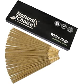 Natural Choice Incense White Sage Incense Sticks 100 Grams, Low Smoke Traditional Incense Sticks Made from Scratch, Never ...