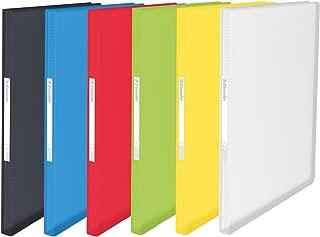 Esselte 624009 20 件装订夹 软壳 100 袋透明Vivida 分类
