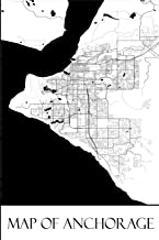 Map of Anchorage: Anchorage Map Travel Vacation Journal, Diary, Booklet, Notebook 6 x 9 With 100 Lined Paper Pages (Alaska Travel & Tourism Guide Accessories) (Volume 1)