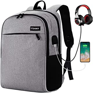 Slim Laptop Backpack, Business Travel Backpack with USB Charging Port Fits for 15.6 inch Laptop & Notebook