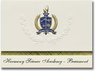 Signature Announcements Harmony Science Academy - Beaumont (Beaumont, TX) Graduation Announcements, Presidential Basic Pac...