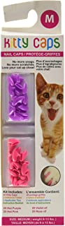 Kitty Caps Kitty Caps Nail Caps for Cats | Safe & Stylish Alternative to Declawing | Stops Snags and Scratches, Medium (9-...