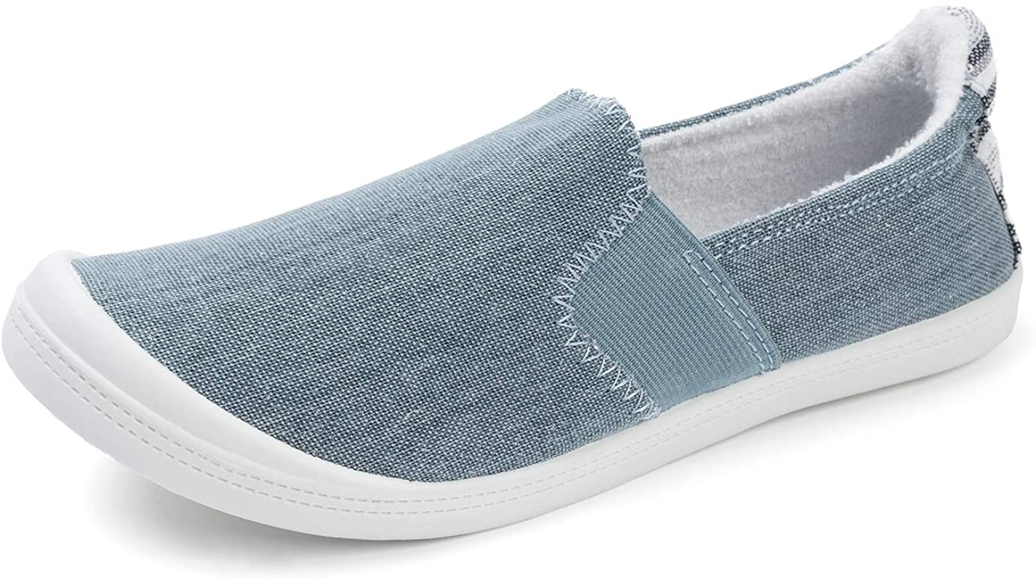 FUNKYMONKEY Women's Jacksonville Mall Canvas Slip On Shoes Casual Flats Max 61% OFF Comfort Sn