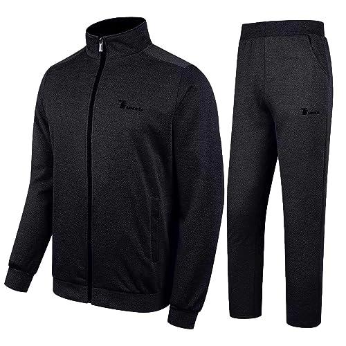 Tracksuits & Sets New Medium Black Sweat Suit Set Soft And Light