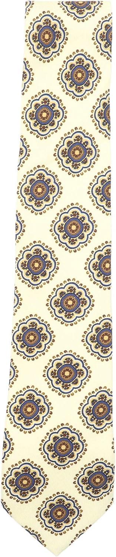 Luigi Borrelli Men's Geometric Floral Wool Tie Necktie
