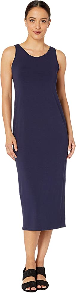 Petite Viscose Jersey Scoop Neck Dress
