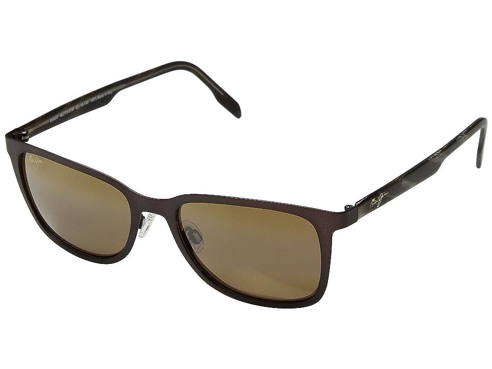 Maui Jim Naupaka (Satin Chocolate/HCL Bronze) Athletic Performance Sport Sunglasses