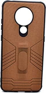 Leather Cover With Holder For Nokia 5.3 (Brown)