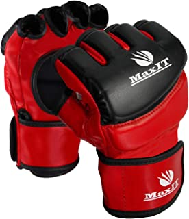 Sparring MAXIT MMA Gloves for Men /& Women Martial Arts Professional Fingerless Punching Bag Boxing Gloves for Combat Training Muay Thai Grappling Kickboxing Workout