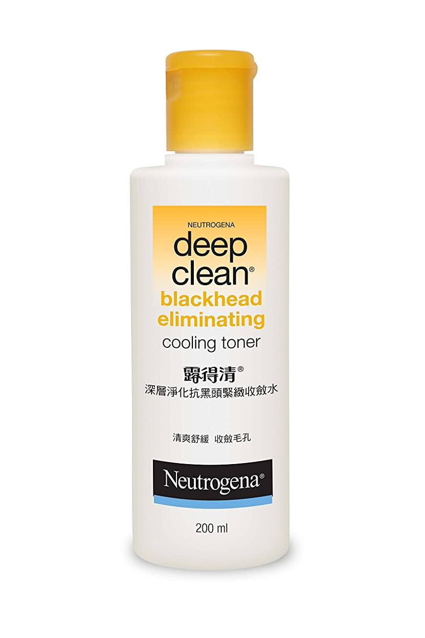 ハーネス甘味有名人Neutrogena Deep Clean Blackhead Eliminating Cooling Toner, 200ml