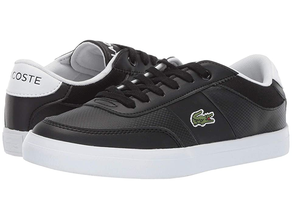 Lacoste Kids Court-Master 119 5 CUJ (Little Kid/Big Kid) (Black/White) Kid