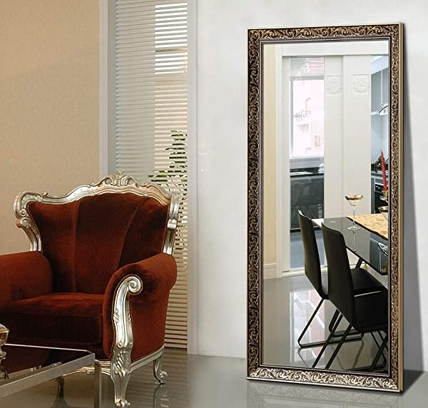 Hans Alice 65 X23 6 Rectangular Bathroom Full Length Floor Mirror Standing Or Hanging Gold