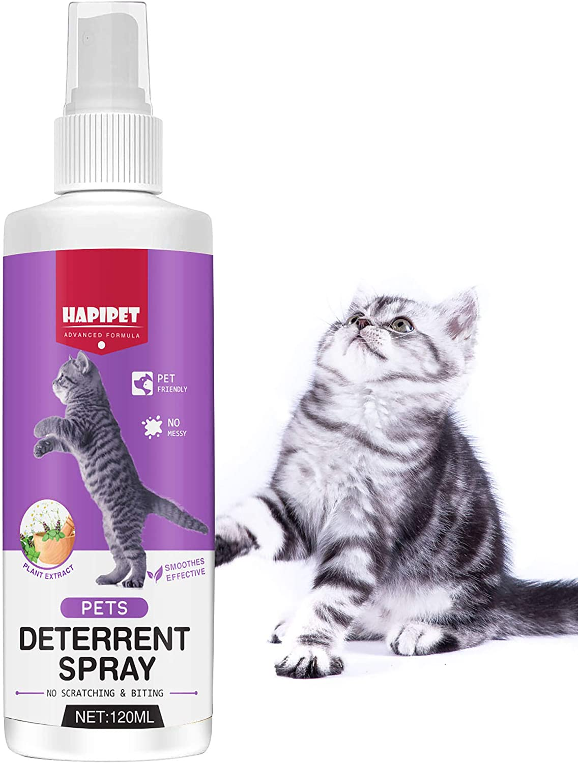 Inscape Data Cat Spray Deterrent, Cat & Kitten Training Aid with Bitter Anti Scratch Furniture Protector - Keep Cats Off