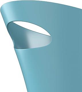 UMBRA Skinny Can. Corbeille Skinny. 7.5L dimension 34x17x33cm. En plastique moulé, coloris bleu turquoise.