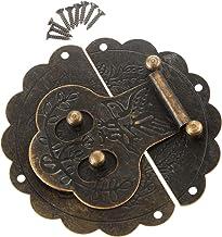 Nologo SSB-JIAOLIAN, 1st 100mm antieke doos Toggle Latch Buckles Decoratieve Haspe Sieraden gemaakt van hout Kastslot Koff...