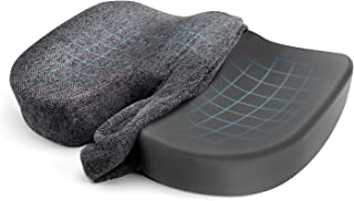 Etekcity Seat Cushion for Office Chair, Car, Memory Foam Bamboo Charcoal Ventilated, Tailbone, Lower Back, Coccyx, Sciatic...