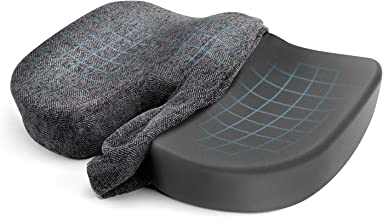 Etekcity Seat Cushion for Office Chair,memory foam cushion for Tailbone,Sciatica,Coccyx & Back Pain Relief,with Non-Slip &...