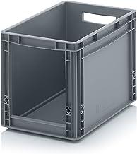 Euro Sichtlagerkasten 40 x 30 x 32 cm inkl. gratis Zollstock * Eurobehälter mit Fenster