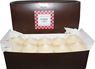 Enlightened Ambience Aspen White Christmas Highly Scented Ivory Votive Candles 10 Pack