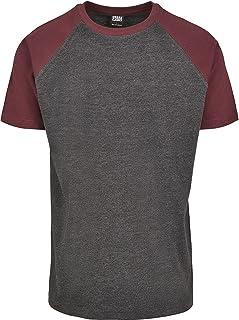 Urban Classics Herr Raglan kontrast T-t-shirt, flerfärgad (Charcoal/Redwine 02252), S
