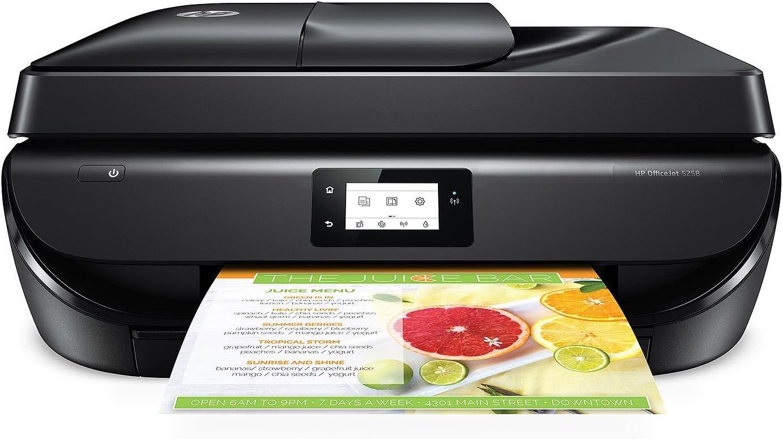HP OfficeJet 5258 Wireless All-in-One Touch Screen Bluetooth Wireless Black Printer